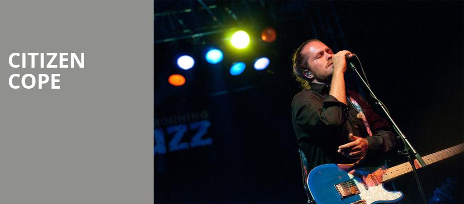 Citizen Cope, Culture Room, Fort Lauderdale