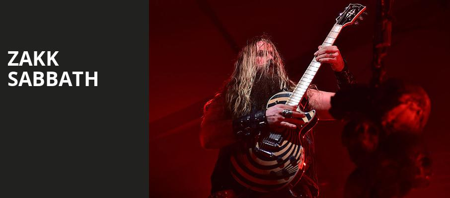 Zakk Sabbath, Culture Room, Fort Lauderdale