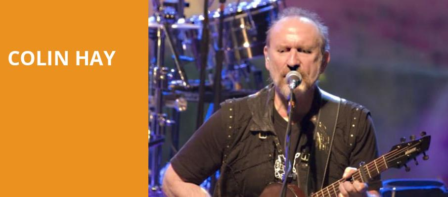 Colin Hay, Amaturo Theater, Fort Lauderdale