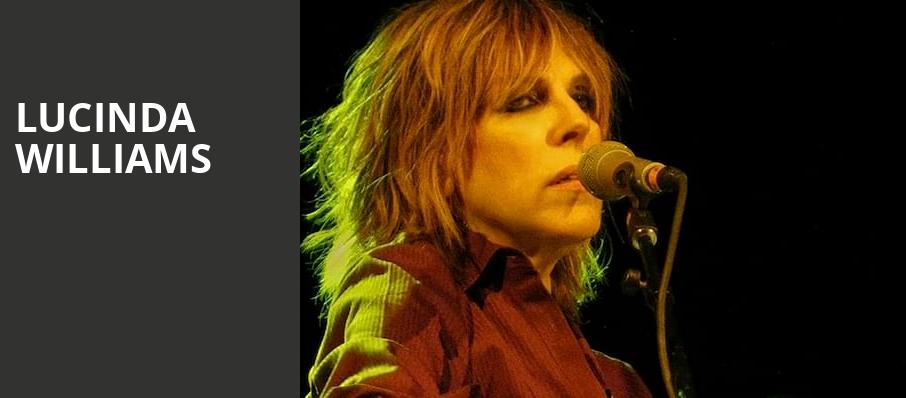 Lucinda Williams, Parker Playhouse, Fort Lauderdale