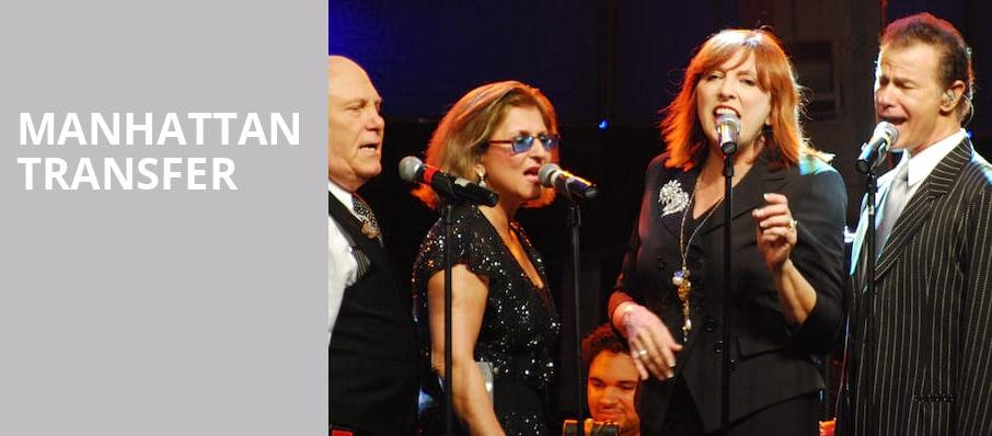 Manhattan Transfer, Parker Playhouse, Fort Lauderdale