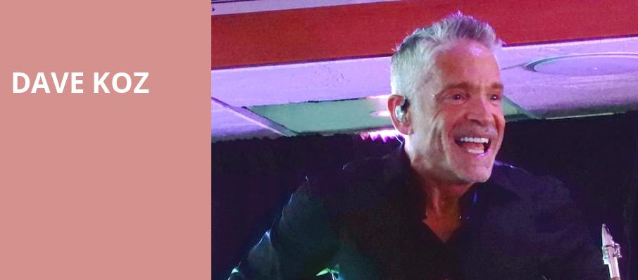 Dave Koz, Parker Playhouse, Fort Lauderdale